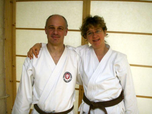 Erschöpft und zufrieden nach bestandener Prüfung: Jörg Markus und Elke Stapf-Wesselmann