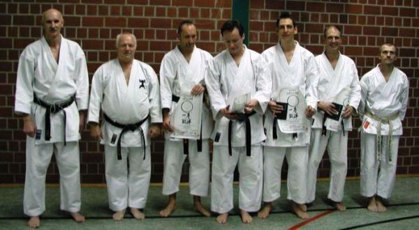 von links nach rechts: Prüfer R. Riegauf, Prüfer F. Nöpel, J. Täuber, R. Maltz, Th. Wängler, R. Möller, Prüfer A. Keller
